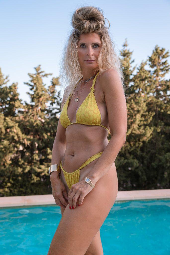 bikini basic jaune